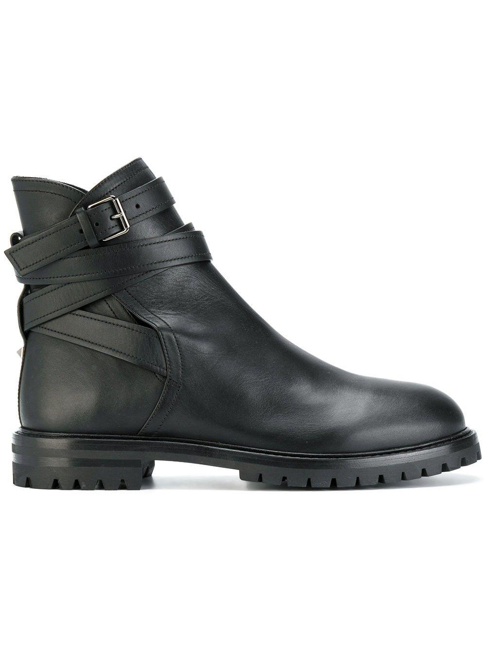 Ghete barbat, Valentino Desert Boots, catarama Negru 42
