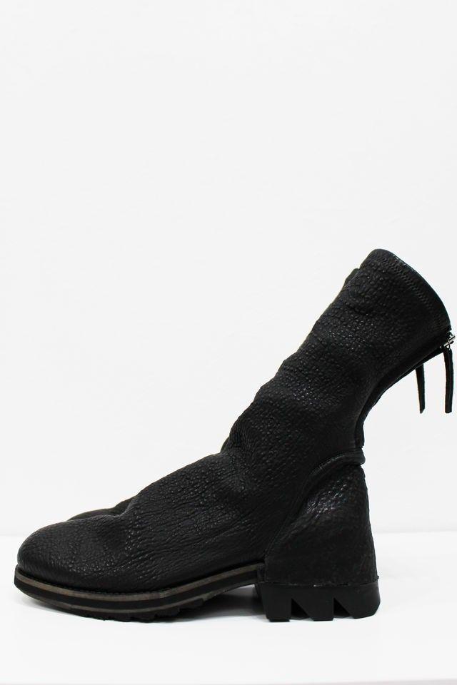 Bocanci barbat Cinzia Araia, Zipped Rugged Boots, piele naturala Negru 40
