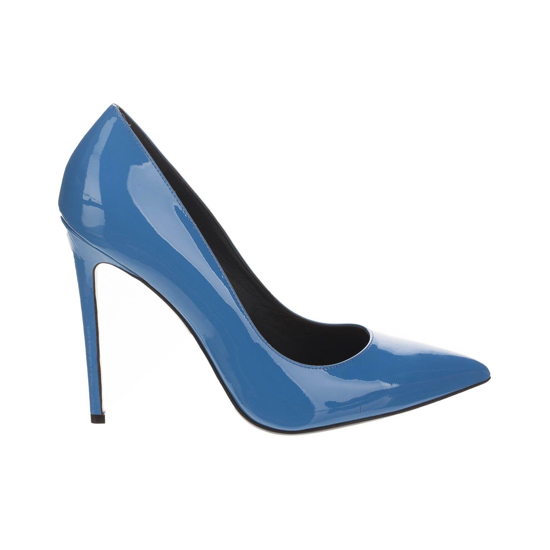 Pantofi cu toc, Gianmarco Lorenzi Italy, albastru Albastru 37