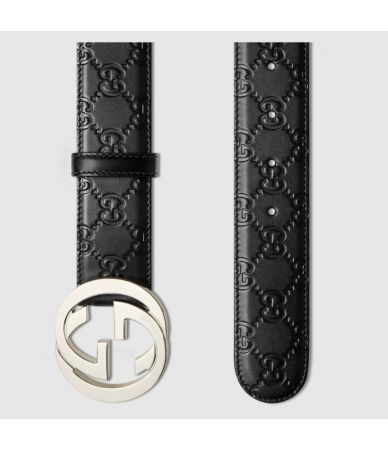 Gucci GG, Men's Belt, Calfskin Leather, 411924 CWC1N