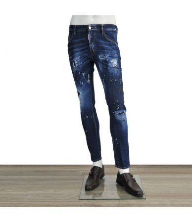 Blugi barbat, Dsquared2 Skater Jeans, Peticiti