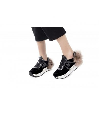 Premiata Holly, VAR 3388 Sneakers, Ostrich Feathers