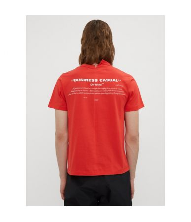 Off White, Bernini S/S Spliced T-Shirt in red