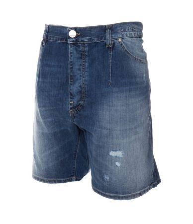 Frankie Morello, Denim Bermudas, Distressed, FMP15261PA