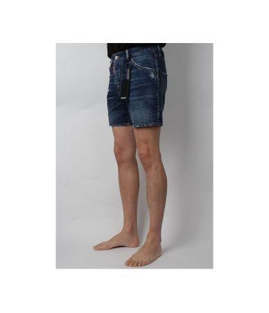 Dsquared2 Bermuda Jeans, Pre-Washed, Distressed, 18SS74MU0486 TN757 470