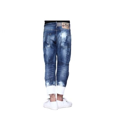Dsquared2, Work Wear Jeans, Damaged Look, 3/4, S74LB0001