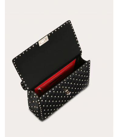 Valentino Garavani, Large Rockstud Spike Nappa Leather Bag, SW2B0121NAP 0NO