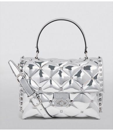 Valentino Garavani, Metallic Candystud Tote Bag, QW1B0B55N