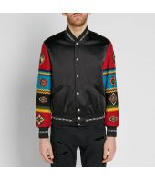 Saint Laurent, Teddy Bomber Jacket, Ethnic Patchwork, 506531.Y021S