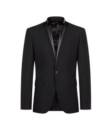 Les Hommes Blazer, Classic 1 Button, Standing Neck, LHG337ALG400B9000