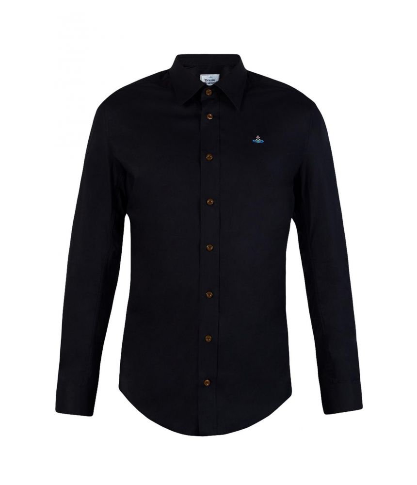 Vivienne Westwood, Casual Shirt, Embroidered Logo, S25DL0347 S44447 900