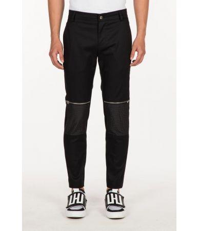 Les Hommes Casual Pants, Zipped Knee, Nylon, Stitched Pocket, URG431AUG450B9000