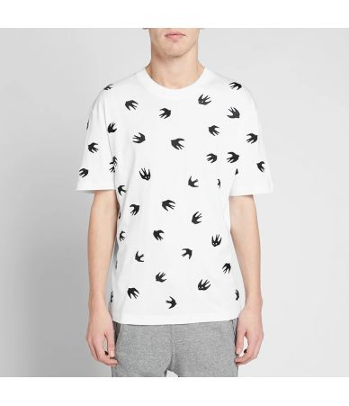 Alexander McQueen, McQ T-Shirt, Swallow Embroidered Print, 291571RMT64