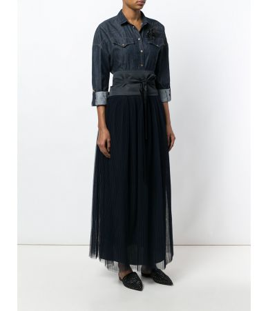 Brunello Cucinelli, Denim Long Dress, M0H75AR333