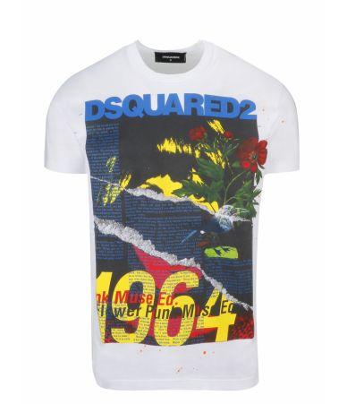 Tricou imprimat, Dsquared2 Vintage 1964, SS19, S71GD0743 S22427