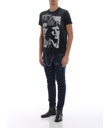 Dsquared2 T-Shirt, Dsquared2, Vicious Bros Print, SS19, S74GD0517 S21600
