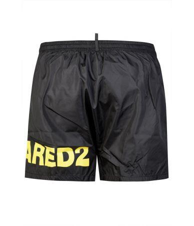 Dsquared2 Swim Shorts, Logo Print, Black, D7B8C2500200
