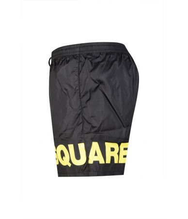 Dsquared2 Swim Shorts, Logo Print, Black, D7B8C2500200