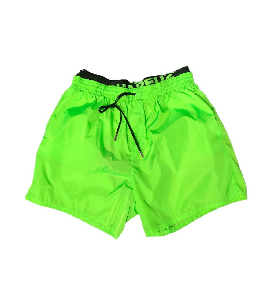 Dsquared2 Swim Shorts, SS19, Acid Green, d7b6g2460860, d7b6g2460.860