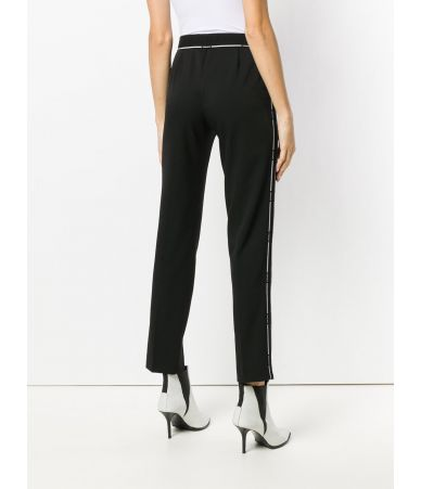 Versace Formal Pants, Striped with Logo, Wool, A80516 A226027