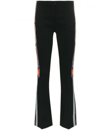 Versace Flared Trousers, Pillow Talk Tape print, A80580 A219388