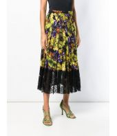 Fusta Dolce and Gabbana, Floral Grape Print, F4BFTT FSATC