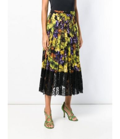 Dolce and Gabbana Skirt, Floral Grape Print, F4BFTT FSATC