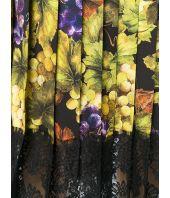 Dolce and Gabbana Skirt, Floral Grape Print, F4BFTT FSATC