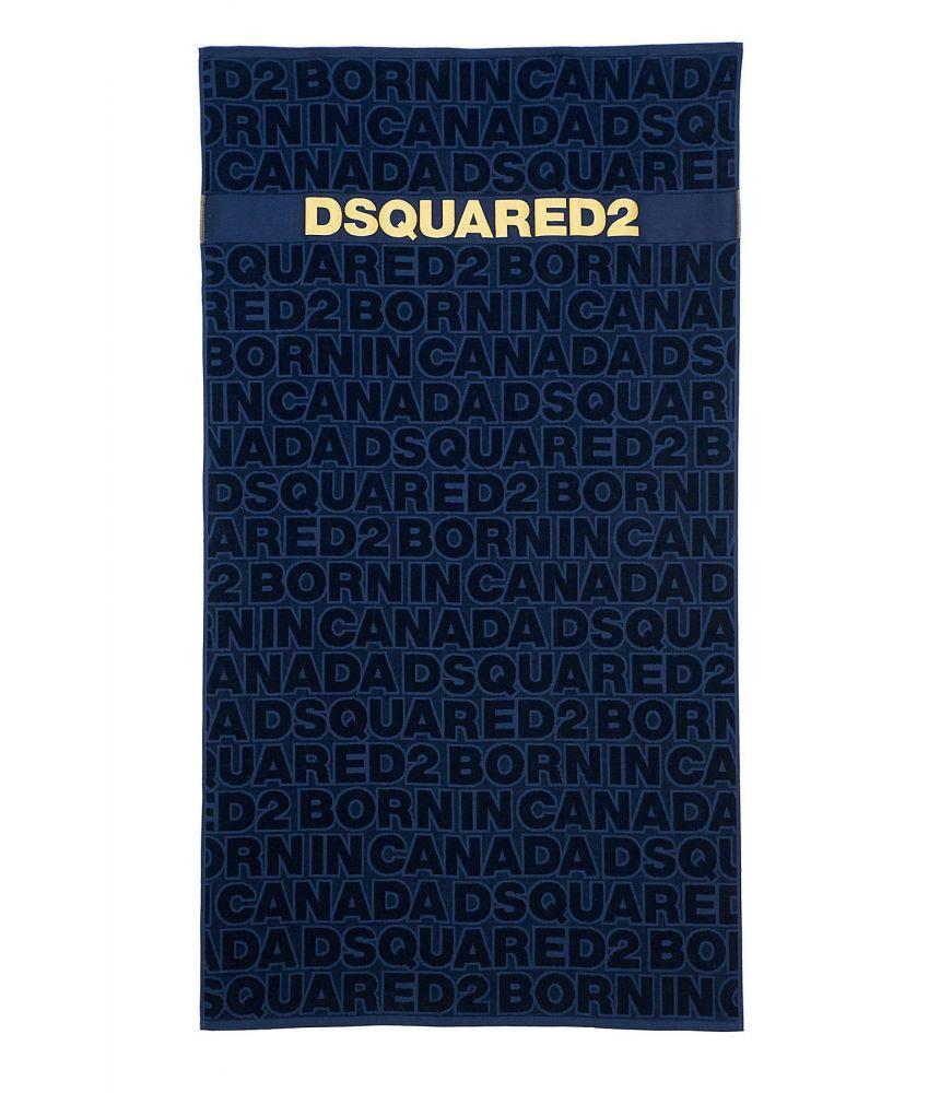 Dsquared2 Beach Towel, Born in Canada Print, blue, D7P002450300
