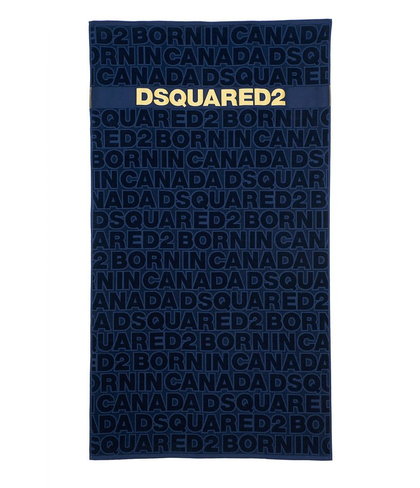 Prosop de plaja, Dsquared2 Print, albastru, D7P002450300