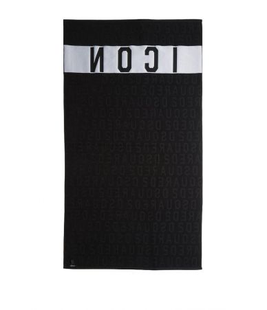 Dsquared2 Beach Towel, Icon Print, black, D7P002310200