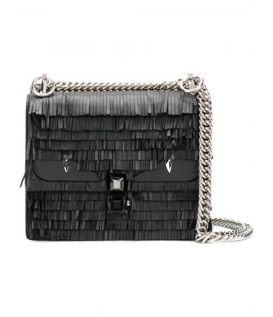 Fendi Kan I Fringe, mini shoulder bag, 8M03813OZ