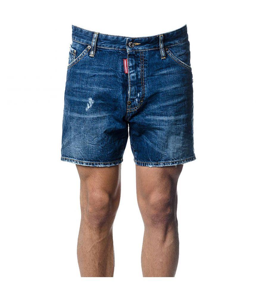 Dsquared2 Denim Shorts, Dsq2 Print, Loose Fit, S74MU0486 STN757