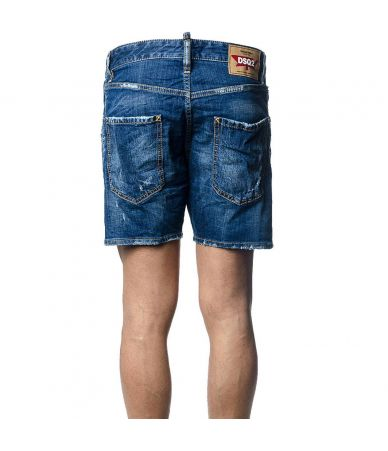 Dsquared2 Denim Shorts, Dsq2 Print, Loose Fit, S74MU0486 STN757