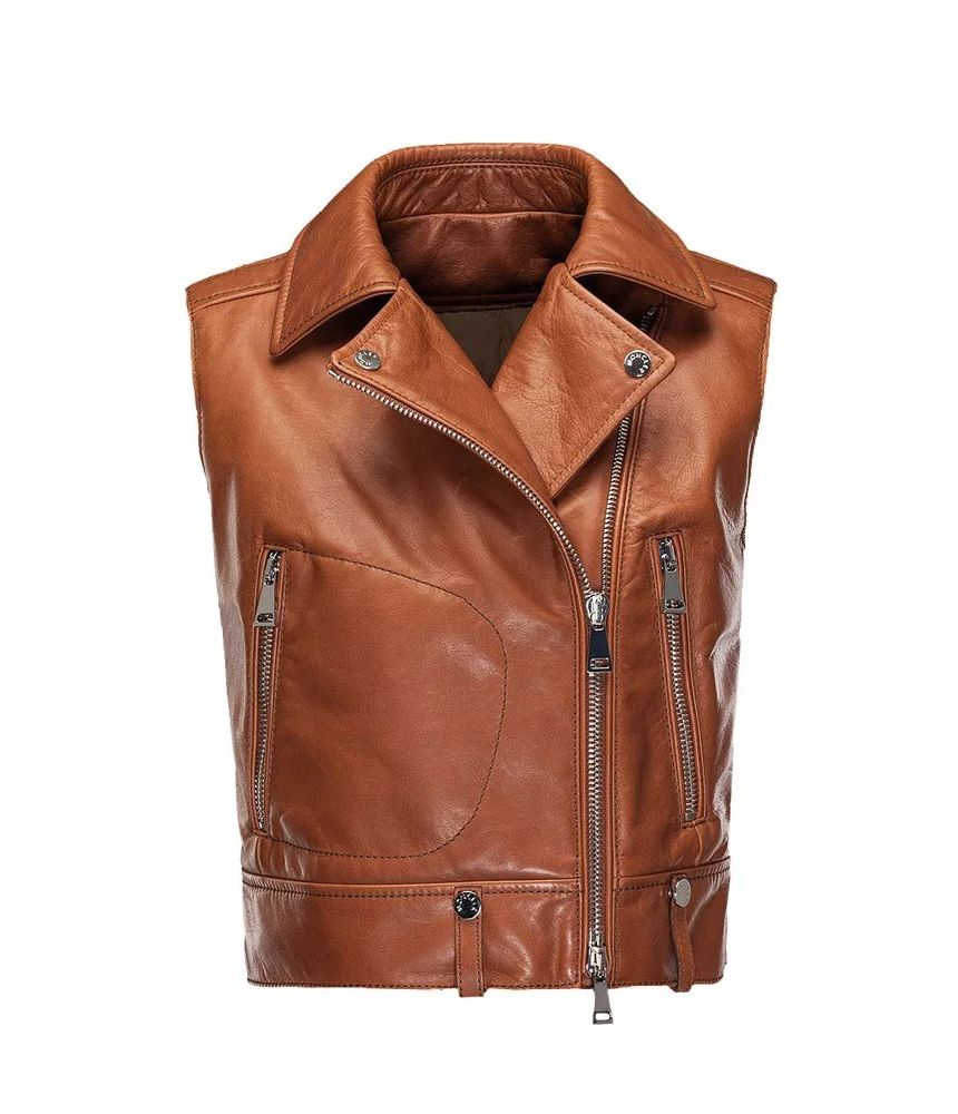 Moncler Rodeia, Leather Padded Vest, 0934881180