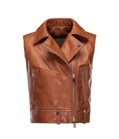 Moncler Rodeia, Leather Padded Vest, 0934881180