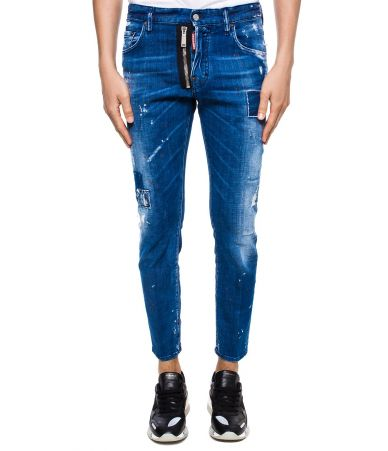 Blugi barbat, Dsquared2, Skater Jeans, Raw Cut, S74LB0423 S30342