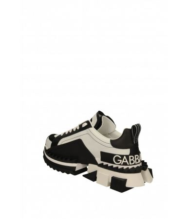Dolce and Gabbana, Super King Sneakers, Black, CS1649AZ692