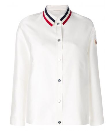 Moncler Gamme Rouge, Shirt Jacket, Striped Collar, 461770526613