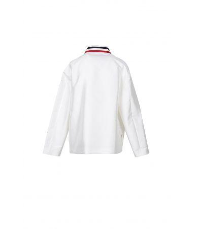 Moncler Gamme Rouge, Shirt Jacket, Striped Collar, 461770526613