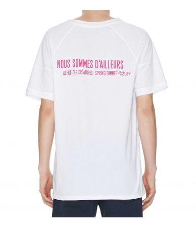 Nous Sommes D'ailleurs, V-Neck Print T-Shirt, T114W