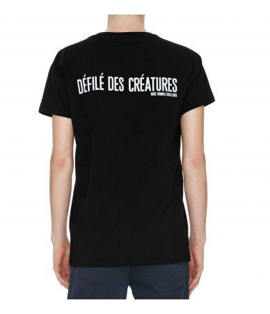 Nous Sommes D'ailleurs, Black Graphic T-shirt, T112B