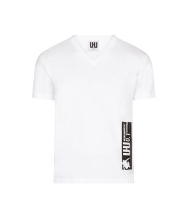 Les Hommes Urban, Rubber Barcode, V-Neck T-Shirt, URG801PUG8061009