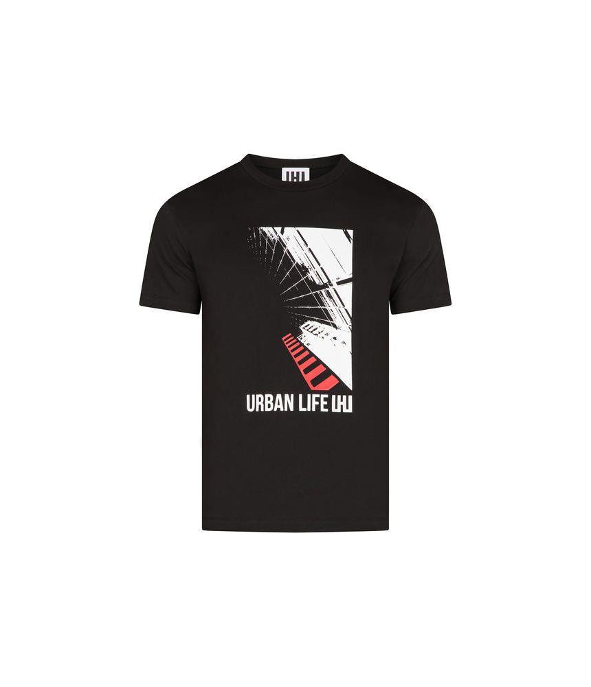 Les Hommes Urban, Urban Life Print T-Shirt, URG800PUG8169051