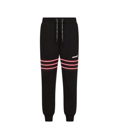 Les Hommes Urban, Sweatshirt Pants, Tape Patch, URG880PUG864B9105