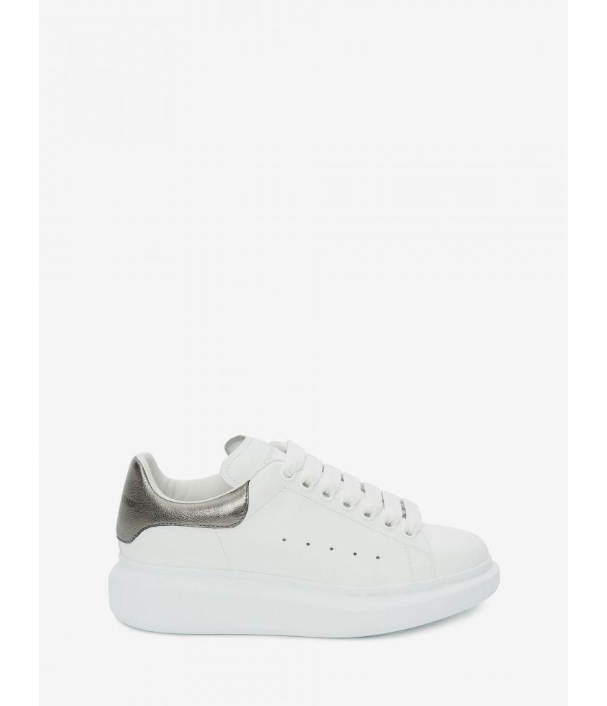 Alexander McQueen, Oversized Sneaker, Woman, Bleeched White, 553770WHFBU9042