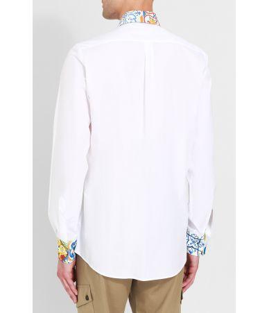 Camasa casual, Dolce and Gabbana, Collar Print, G5EJ1TGEC13