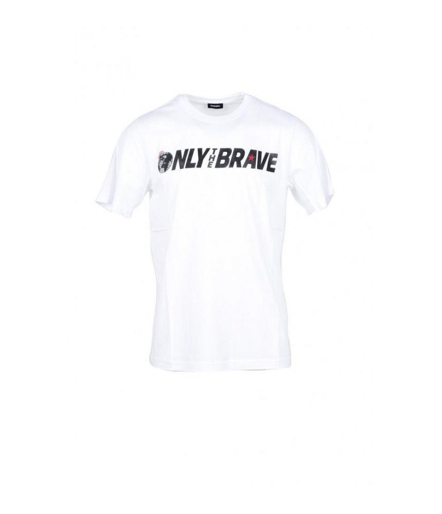 Diesel T-shirt, Only the Brave Print, round collar, 95026