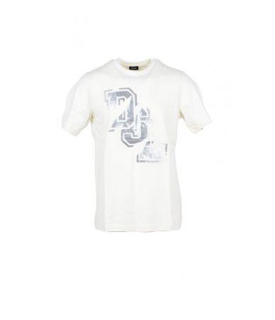 Diesel T-shirt, DSL Distress Print, round collar