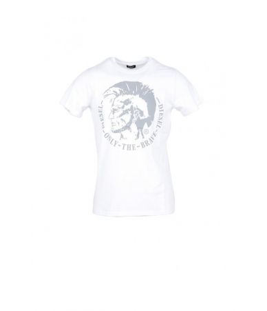 Diesel T-shirt, Mohawk Print, Only The Brave, white
